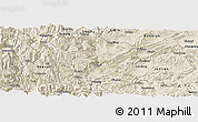 Shaded Relief Panoramic Map of Yanjin