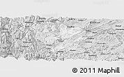 Silver Style Panoramic Map of Yanjin