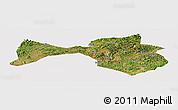 Satellite Panoramic Map of Yanshan, cropped outside