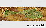 Satellite Panoramic Map of Yanshan, physical outside