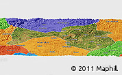 Satellite Panoramic Map of Yanshan, political outside