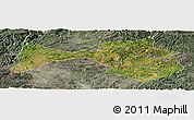 Satellite Panoramic Map of Yanshan, semi-desaturated