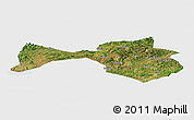 Satellite Panoramic Map of Yanshan, single color outside