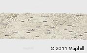 Shaded Relief Panoramic Map of Yanshan