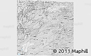 Silver Style Panoramic Map of Yiliang