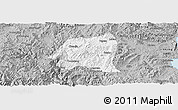 Gray Panoramic Map of Yimen
