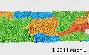 Political Panoramic Map of Yimen