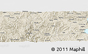 Shaded Relief Panoramic Map of Yimen