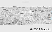 Silver Style Panoramic Map of Yimen