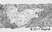 Gray Panoramic Map of Yongde