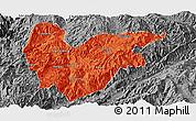 Political Panoramic Map of Yongde, desaturated