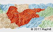 Political Panoramic Map of Yongde, lighten