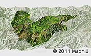 Satellite Panoramic Map of Yongde, lighten