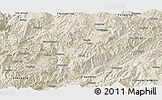 Shaded Relief Panoramic Map of Yongde