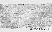 Silver Style Panoramic Map of Yongde