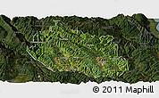 Satellite Panoramic Map of Yongping, darken