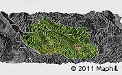 Satellite Panoramic Map of Yongping, desaturated