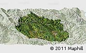 Satellite Panoramic Map of Yongping, lighten