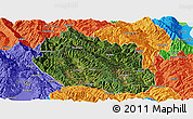 Satellite Panoramic Map of Yongping, political outside