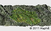 Satellite Panoramic Map of Yongping, semi-desaturated