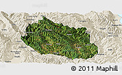Satellite Panoramic Map of Yongping, shaded relief outside