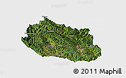 Satellite Panoramic Map of Yongping, single color outside