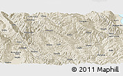 Shaded Relief Panoramic Map of Yongping
