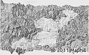 Gray Panoramic Map of Yongshan
