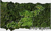 Satellite Panoramic Map of Yongshan, darken