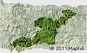 Satellite Panoramic Map of Yongshan, lighten
