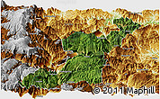 Satellite Panoramic Map of Yongshan, physical outside