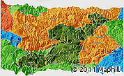 Satellite Panoramic Map of Yongshan, political outside