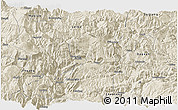 Shaded Relief Panoramic Map of Yongshan