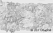 Silver Style Panoramic Map of Yongshan