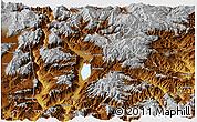 Physical Panoramic Map of Yongsheng