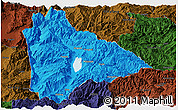Political Panoramic Map of Yongsheng, darken