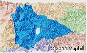Political Panoramic Map of Yongsheng, lighten