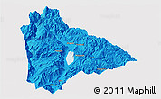 Political Panoramic Map of Yongsheng, single color outside