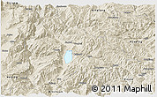 Shaded Relief Panoramic Map of Yongsheng