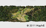 Satellite Panoramic Map of Yuanmou, darken