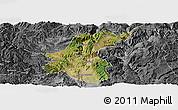 Satellite Panoramic Map of Yuanmou, desaturated