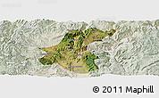 Satellite Panoramic Map of Yuanmou, lighten