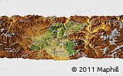 Satellite Panoramic Map of Yuanmou, physical outside