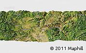 Satellite Panoramic Map of Yuanmou