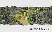 Satellite Panoramic Map of Yuanmou, semi-desaturated