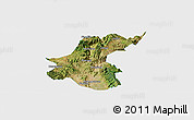 Satellite Panoramic Map of Yuanmou, single color outside