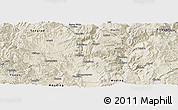 Shaded Relief Panoramic Map of Yuanmou