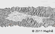 Gray Panoramic Map of Yuanyang