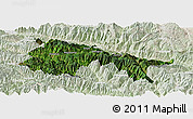 Satellite Panoramic Map of Yuanyang, lighten