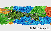 Satellite Panoramic Map of Yuanyang, political outside